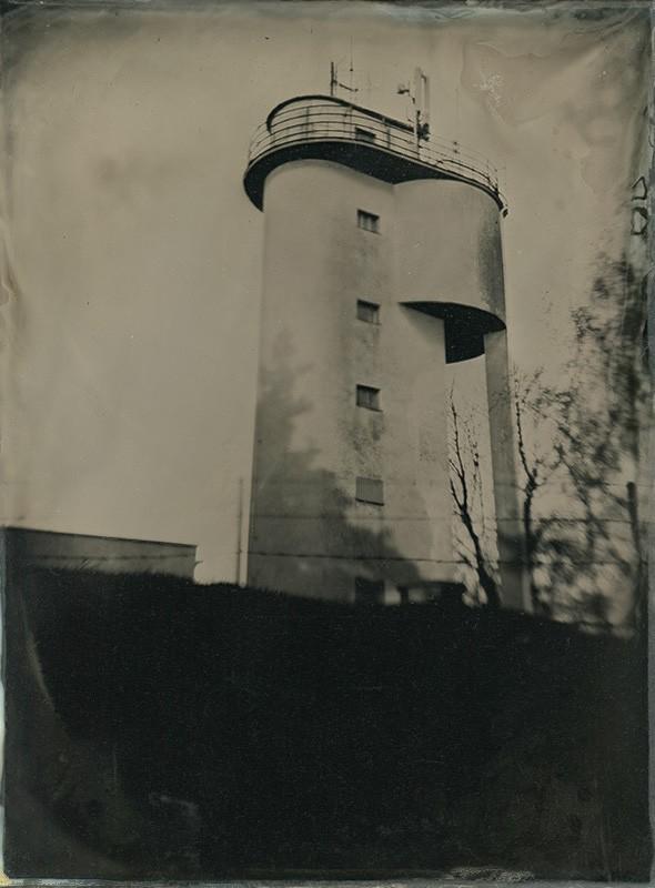 "Water Tank / Vodojem / Strážná Hora, Ambrotype, 8x10"", 2013/11"