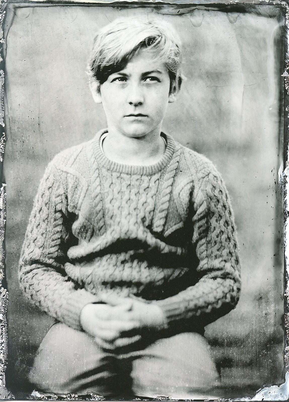 Mladý fotograf focený na kolodium / A young photographer on Tintype