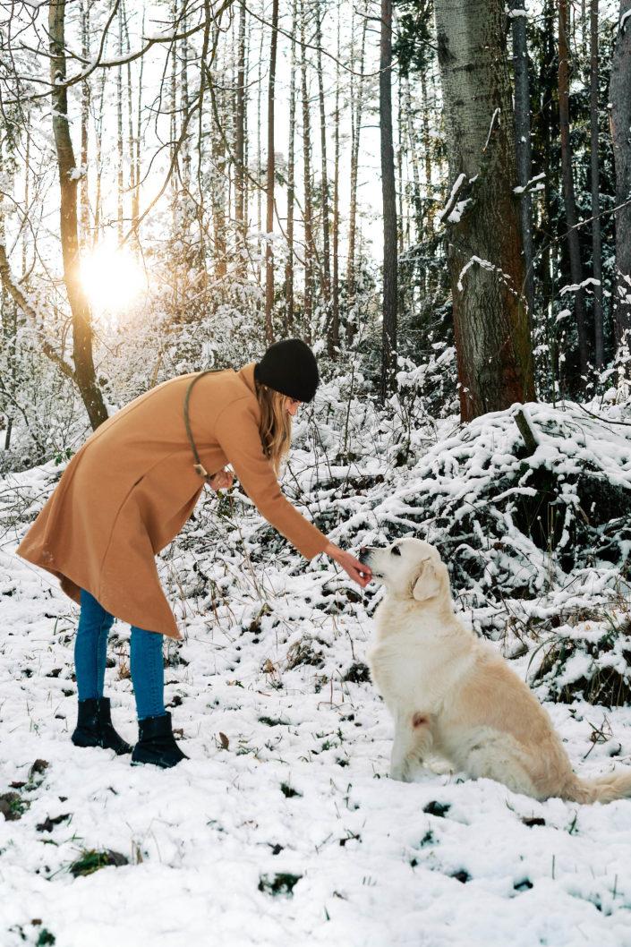 Focení venku se psem