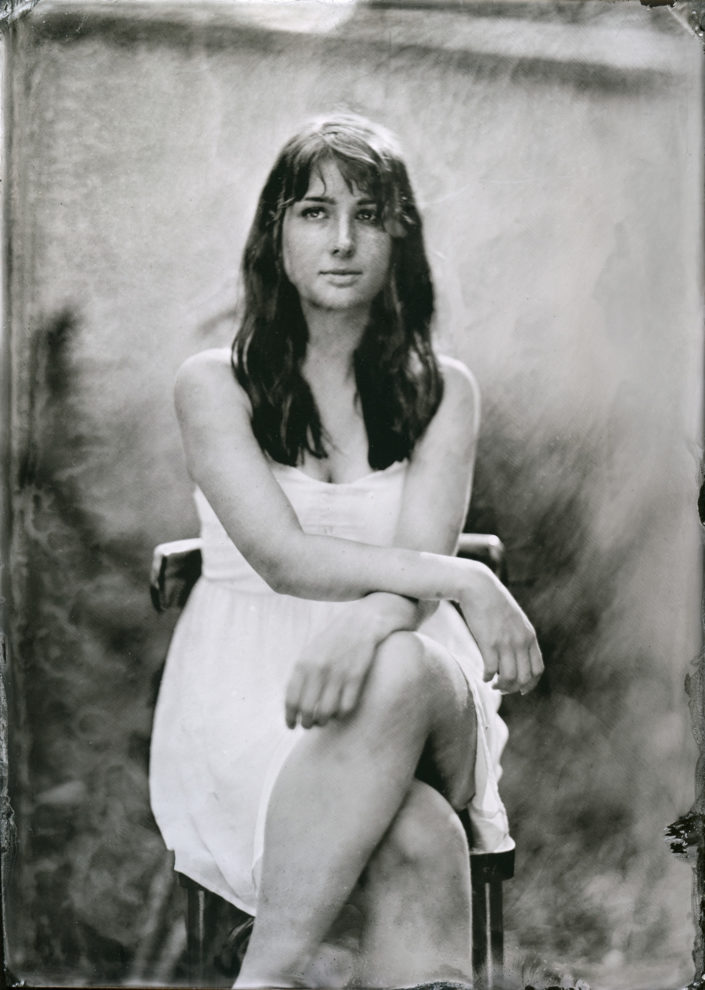 Kolodium tintype portrét