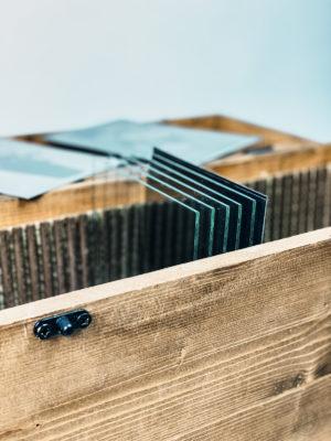 Wooden Wet Plate Travel Box Kolodium
