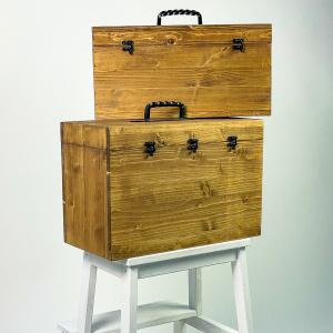 Wooden Wetplate Collodion Travel Storage Box